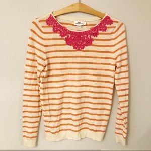 Vineyard Vines Coral Striped Sweater